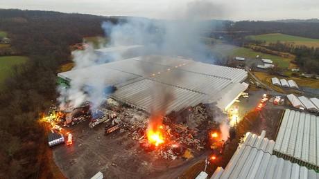 Us Pa Major Fire At Dan Schantz Farm And Greenhouses